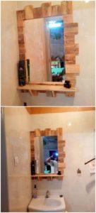 Wood Pallet Mirror