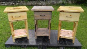 Wood Pallet Nightstands