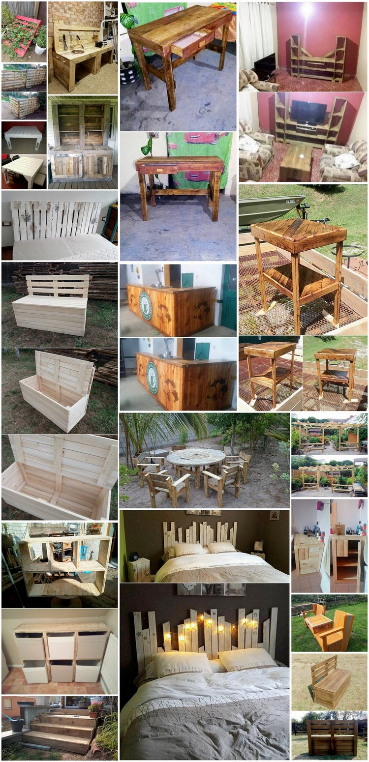 Awesome DIY Projects for Old Wood Shipping Pallets
