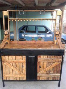 Pallet Bar Table Cabinet