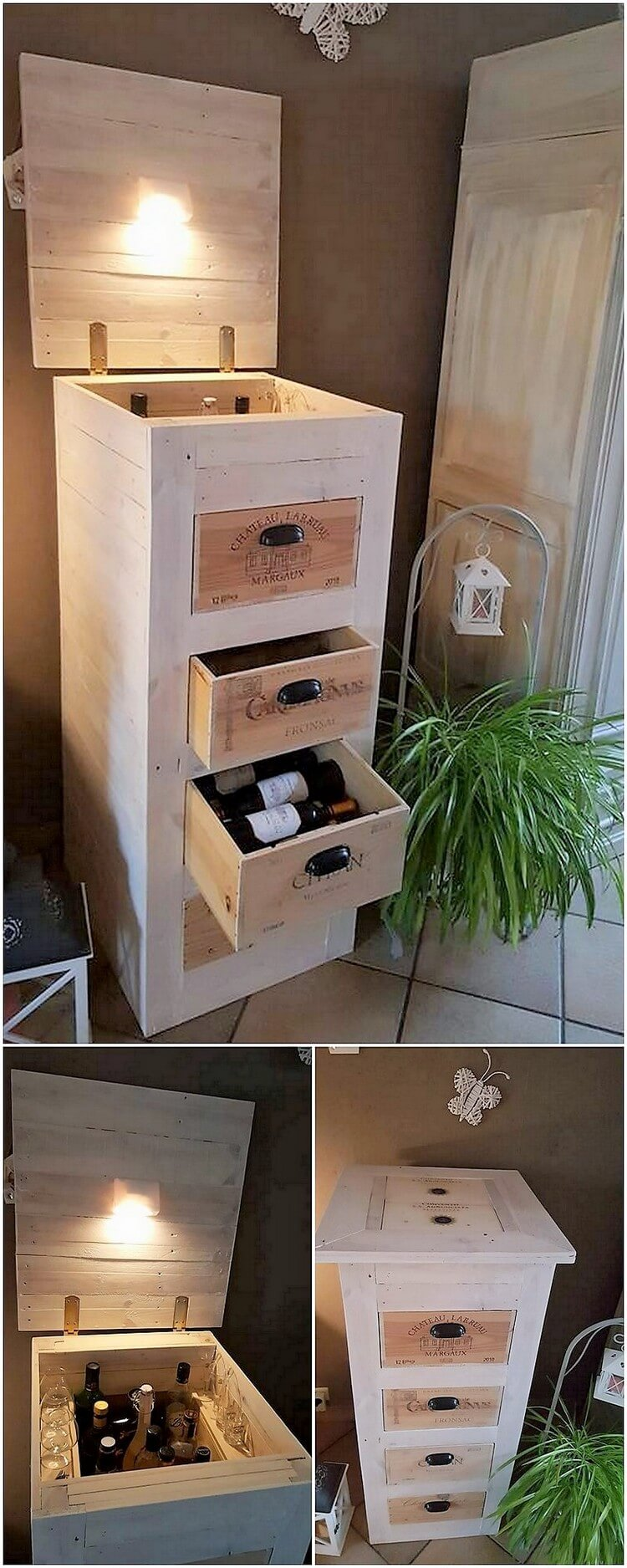 Pallet Cabinet Table