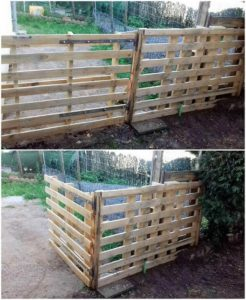 Pallet Garden Fence with Gate