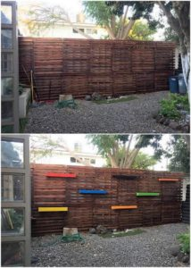 Pallet Garden Wall with Planters