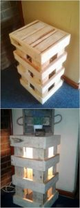 Pallet Nightstand with Light
