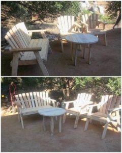 Pallet Outdoor Furniture Set