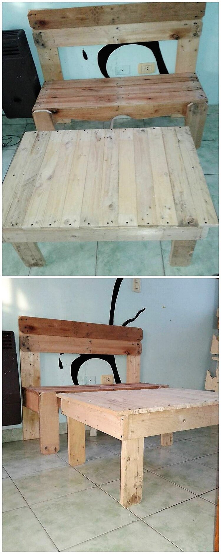 Pallet Seat and Table