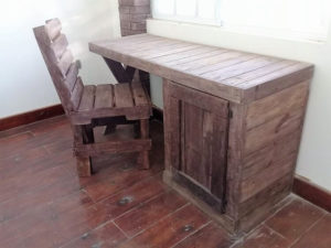 Pallet Study Table or Office Table and Chair
