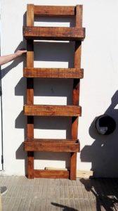 Pallet Wall Planter Shelves