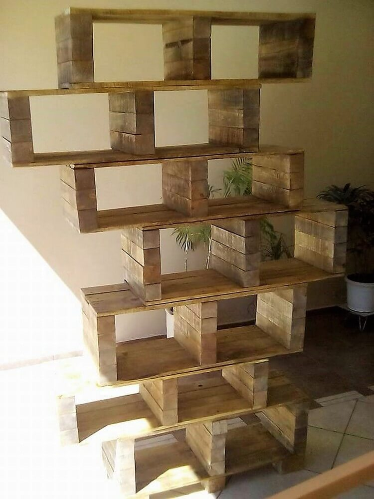 Recycled Pallet Shelving Unit