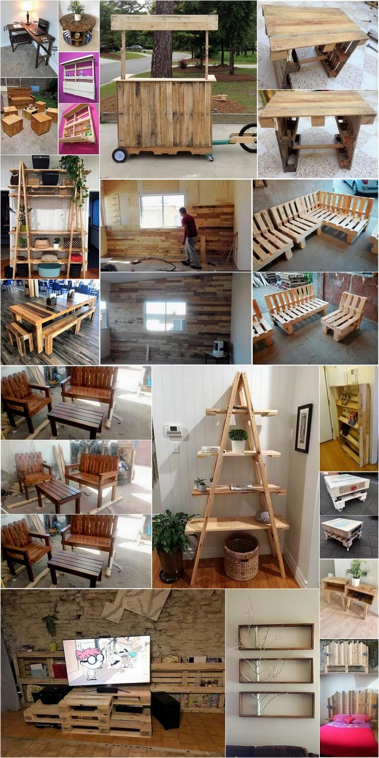 Amazing DIY Ideas Using Shipping Wood Pallets at Home