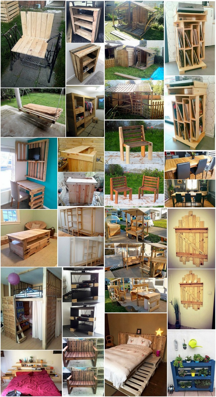Creative Ways Of Turning Old Pallets Into Unique Pieces Of Furniture