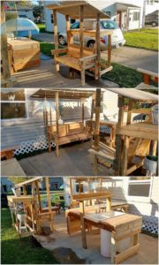 Pallet Bench and Sink