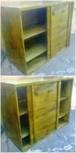Pallet Cabinet with Sliding Doors