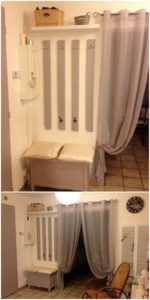 Pallet Coat Rack and Seat