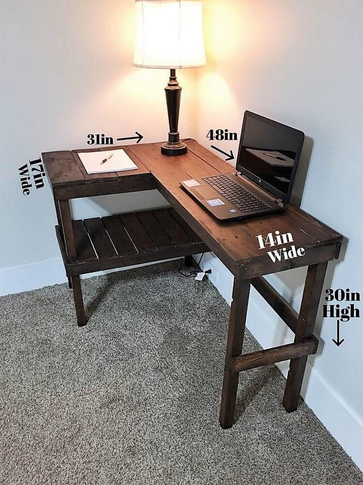 Pallet Corner Study Table