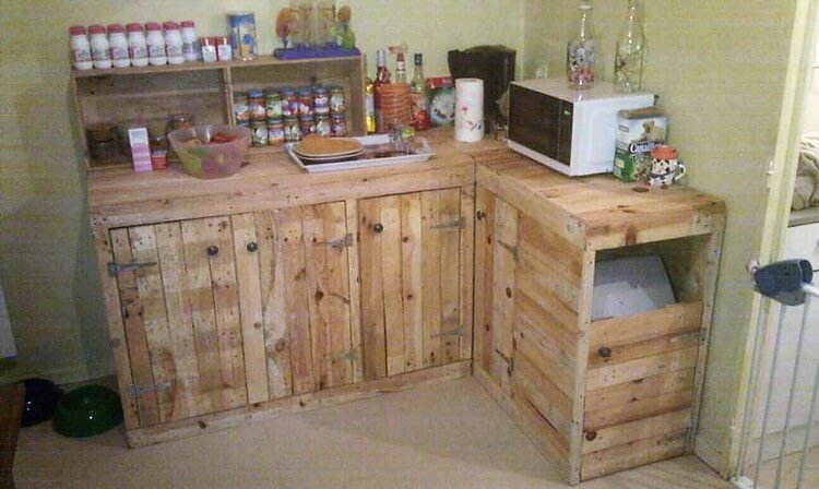 Pallet Kitchen Island or Counter Table