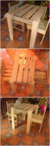 Pallet Table and Chairs Furniture