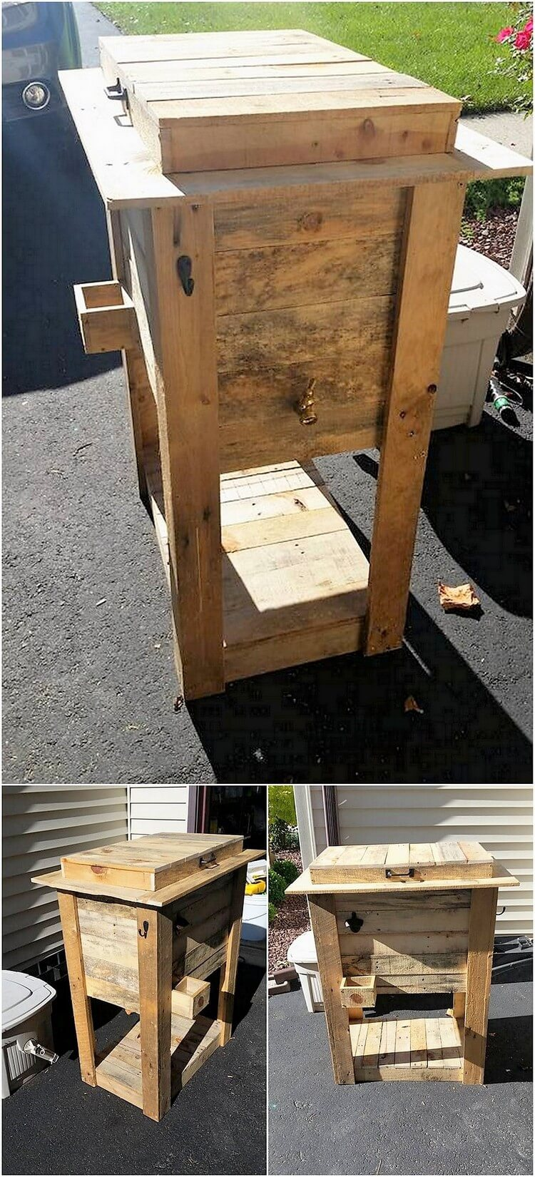 Recycled Pallet Cooler