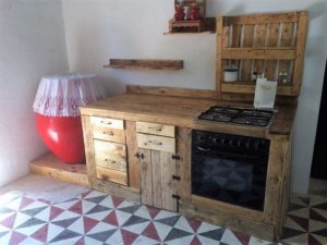 Recycled Pallet Kitchen Project