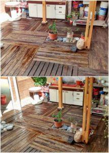 Wood Pallet Floor