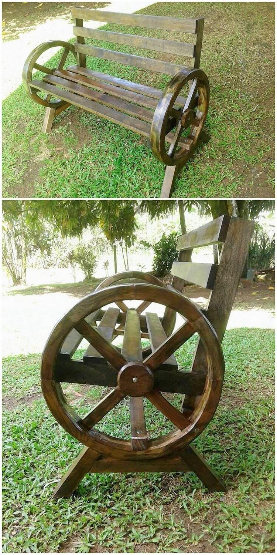 Wood Pallet Garden Bench