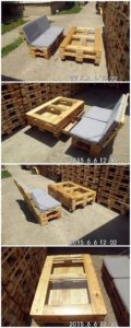 Pallet Bench and Coffee Table