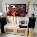 Pallet LED Holder and Media Cabinet