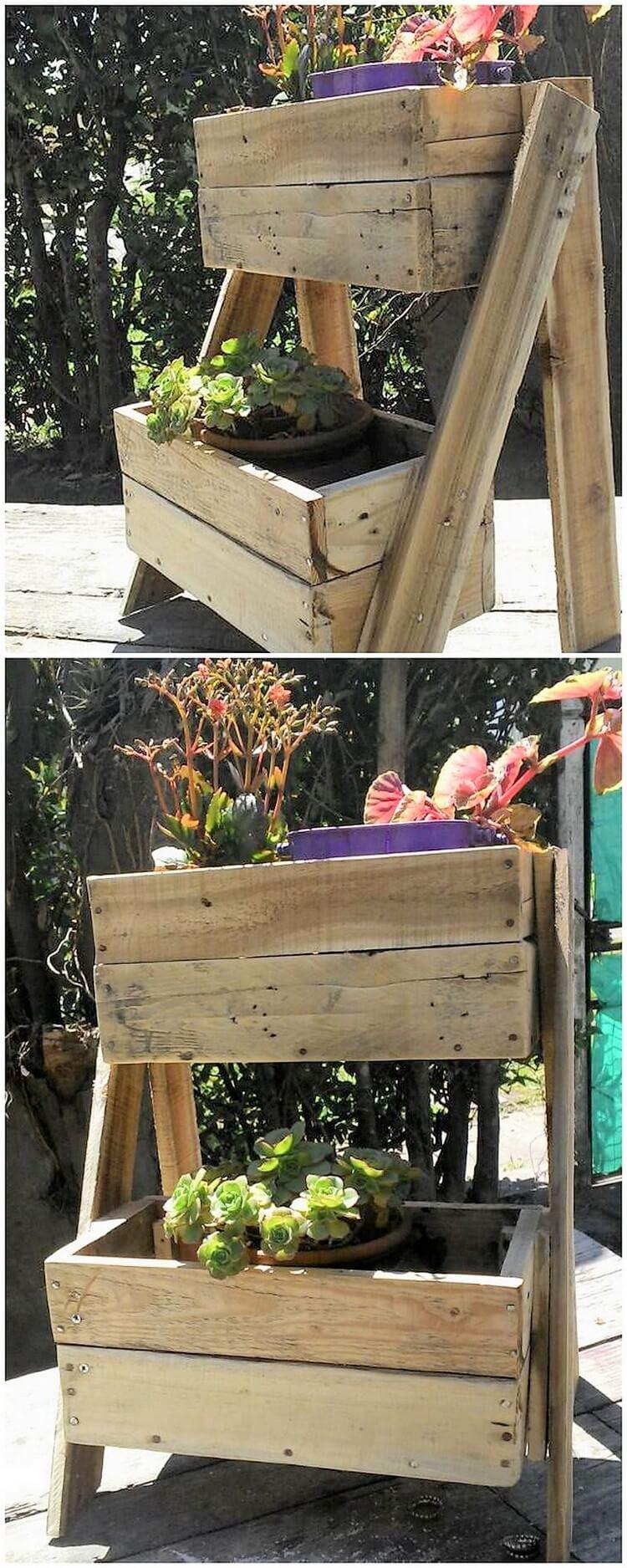 Pallet Planter Pots Holder