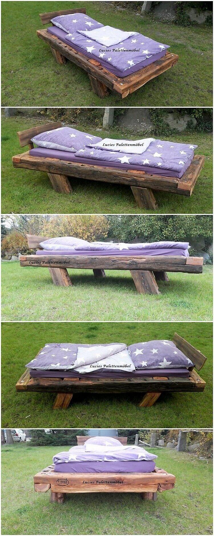 Pallet Single Bed