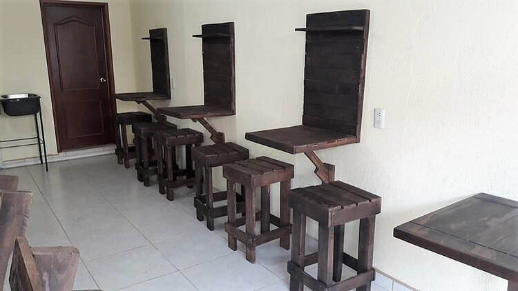 Pallet Stools and Bar Tables