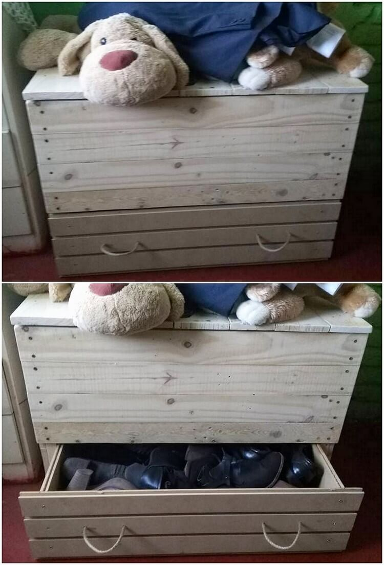 Pallet Toy Storage Box