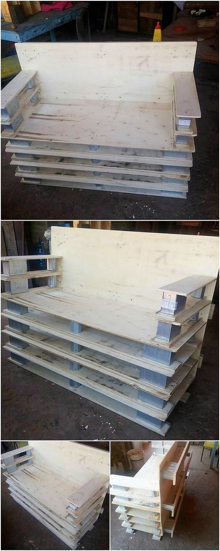 Recycled Pallet Bench