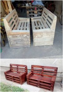 Recycled Pallet Benches