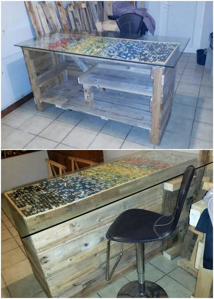 Recycled Pallet Counter