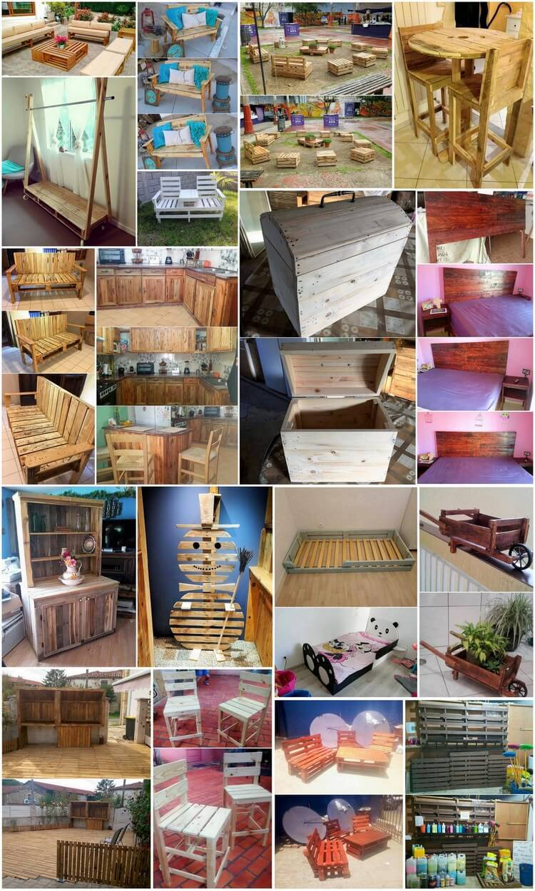 Mind Blowing Wood Pallets Reusing Ideas