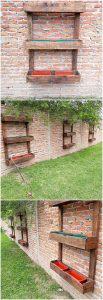 Pallet Garden Wall Planters