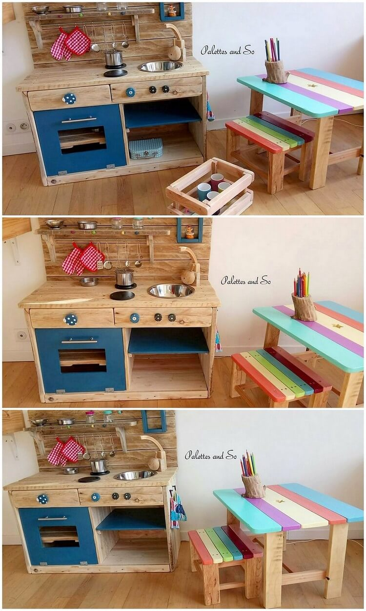 Pallet Kids Kitchen and Furniture
