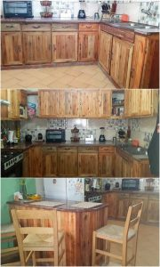 Pallet Kitchen Cabinets and Counter Table