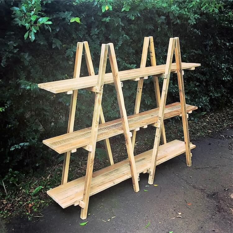 Pallet Ladder Shelving Unit