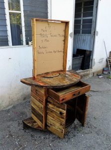 Pallet Media Table Cabinet