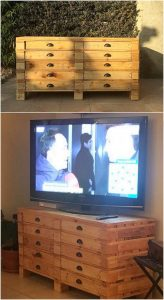 Pallet Media Table or Chest of Drawers
