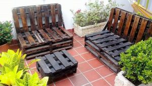 Pallet Outdoor Benches and Table