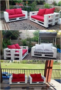 Pallet Outdoor Couch Set