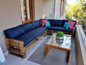 Pallet Patio Couch and Table