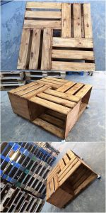 Pallet Table on Wheels