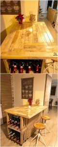 Pallet Wine Bar Table
