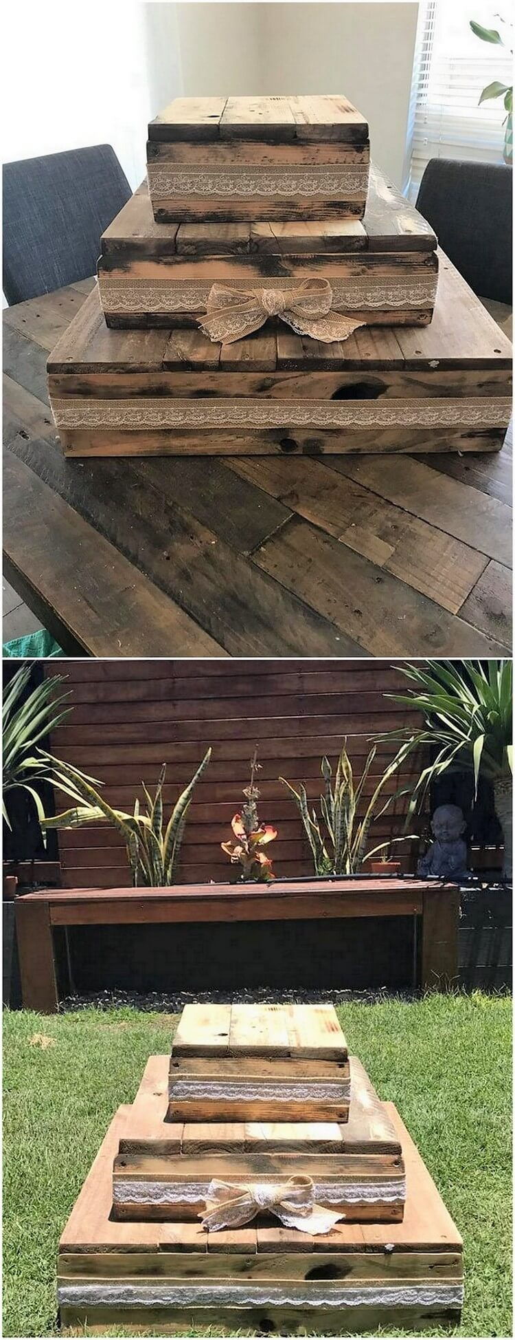 Wood Pallet Garden Creation
