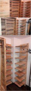 Pallet Closet and Shoe Rack