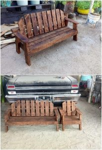 Pallet Garden Bench and Chair