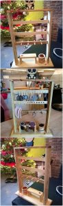 Pallet Jewelry Rack Stand